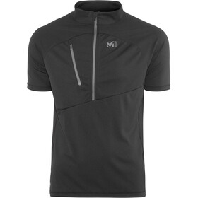 Millet Elevation Short Sleeve Zip Shirt Herre black-noir